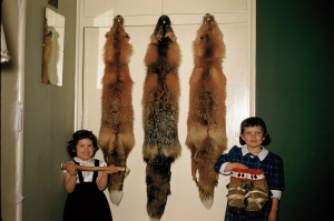 Ruth and Naomi with fox skins
