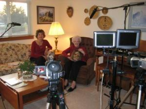 Naomi interviewing Anna and making documentary DVD - 2008