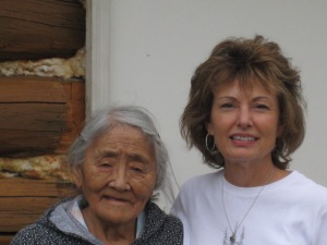 Rhoda Ahgook and Naomi in Anaktuvuk Pass, AK - 2009