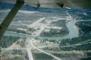 Soldotna - 1961. Airstrip in town, behind the first house we lived in. Now Wilson Street.