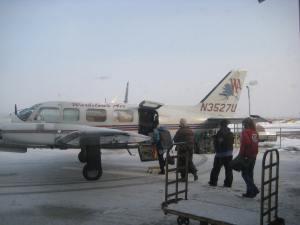 Flying from Fairbanks to Tanana