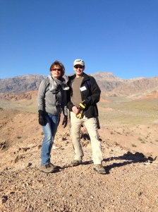Naomi and Mark climbing at Death Valley