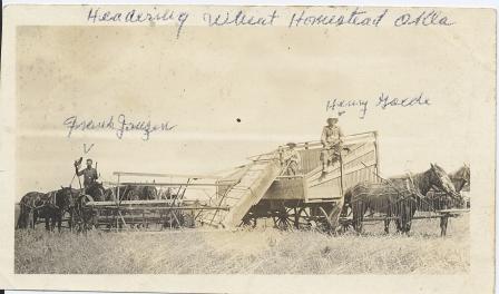 Headering Wheat - Oklahoma - Henry Gaede and Frank Janzen